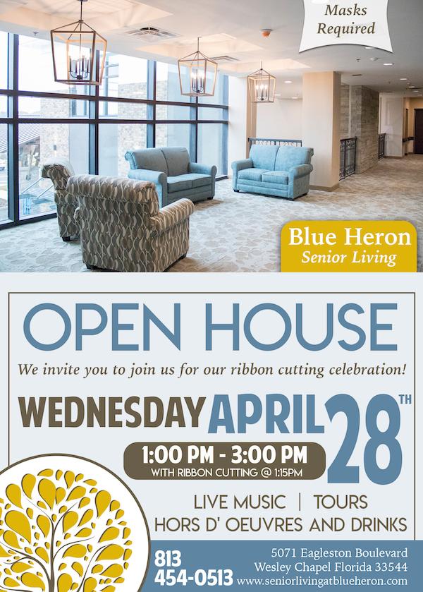 Blue Heron Open House Invitation